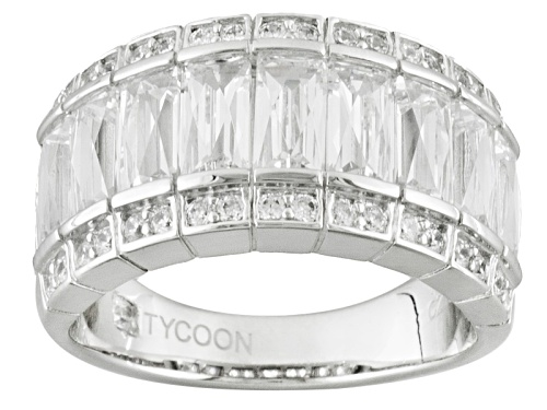 Photo of Pre-Owned Tycoon For Bella Luce ® 5.84ctw Baguette And Round Platineve® Ring (3.96ctw Dew) - Size 6