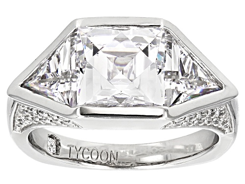 Photo of Pre-Owned Tycoon For Bella Luce® 8.35ctw Diamond Simulant Platineve® Ring (5.63ctw Dew) - Size 6