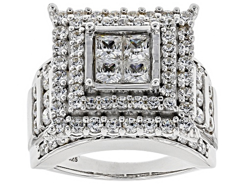 Photo of Pre-Owned Bella Luce ® 4.82CTW White Diamond Simulant Rhodium Over Sterling Silver Ring - Size 10