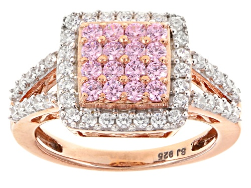 Photo of Pre-Owned Bella Luce ® 2.20ctw Pink And White Diamond Simulant Eterno ™ Rose Ring (1.14ctw Dew) - Size 5
