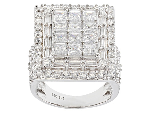 Photo of Pre-Owned Bella Luce ® 8.48CTW White Diamond Simulant Rhodium Over Sterling Silver Ring (4.95CTW DEW - Size 6