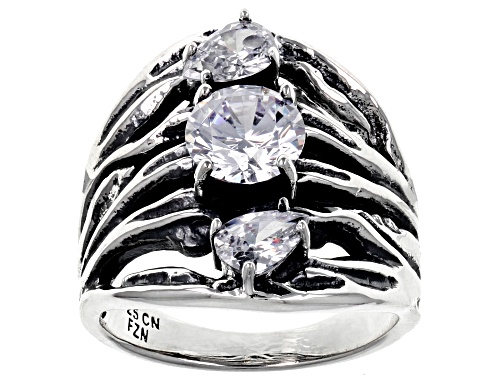 Photo of Pre-Owned Bella Luce ® 3.34CTW White Diamond Simulant Rhodium Over Sterling Silver Ring (2.06CTW DEW - Size 11
