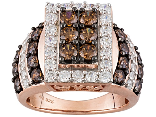 Photo of Pre-Owned Bella Luce ® 4.58ctw Champagne & White Diamond Simulant Eterno ™ Rose Ring (2.28ctw Dew) - Size 7