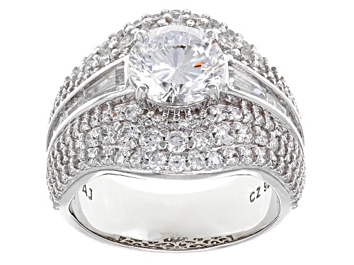 Photo of Pre-Owned Bella Luce ® Dillenium Cut 7.21ctw Diamon Simulant Rhodium Over Sterling Silver Ring (4.65 - Size 6