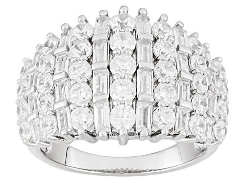 Photo of Pre-Owned Bella Luce ® 5.30ctw Rhodium Over Sterling Silver Ring (3.00ctw Dew) - Size 11