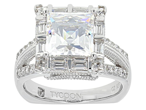 Photo of Pre-Owned Bella Luce ® Featuring Tycoon Cut ®7.78ctw Square/Round/Baguette Platineve® Ring - Size 6