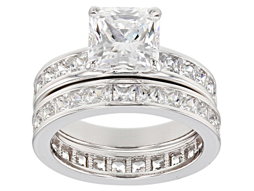 Photo of Pre-Owned Charles Winston For Bella Luce®9.80CTW White Diamond Simulant Rhodium Over Silver Ring Wit - Size 12