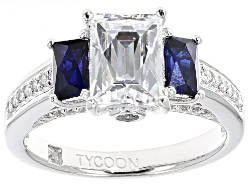 Photo of Pre-Owned Tycoon For Bella Luce ® 3.92ctw White Diamond Sim & Lab Created Sapphire Platineve® Ring - Size 10