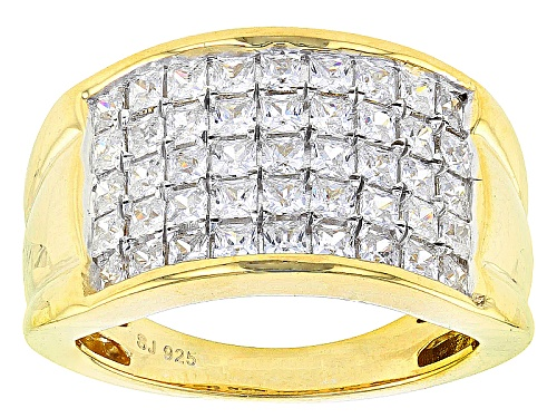 Photo of Pre-Owned Bella Luce ® 2.62ctw Diamond Simulant Princess Cut Eterno ™ Yellow  Ring (1.35ctw Dew) - Size 6
