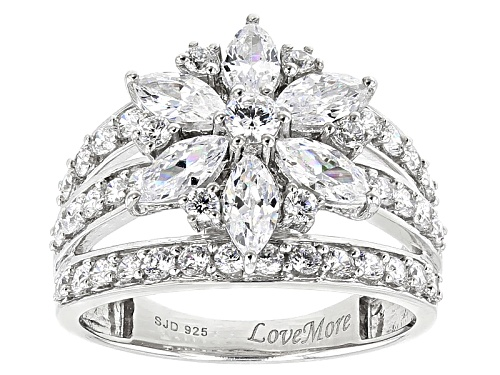 Photo of Pre-Owned Lovemore By Lisa Mason ™ 4.69ctw Bella Luce ® Rhodium Over Sterling Silver Floral Ring - Size 5