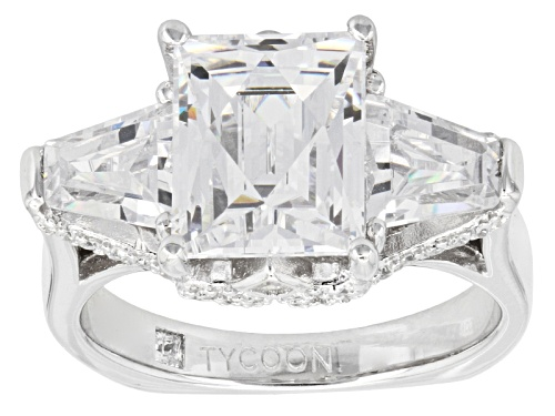 Photo of Pre-Owned Tycoon For Bella Luce ® 8.97ctw Diamond Simulant Platineve® Ring (4.68ctw Dew) - Size 9