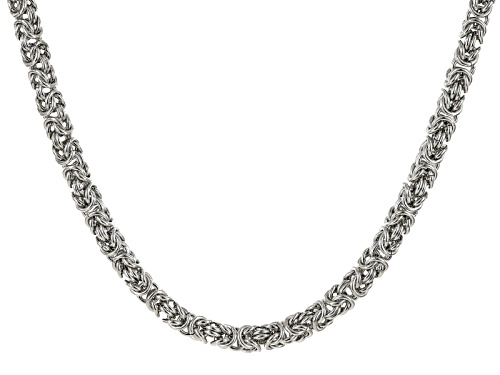 Photo of Pre-Owned Off Park ® Collection White Crystal Silver Tone Byzantine Link Necklace