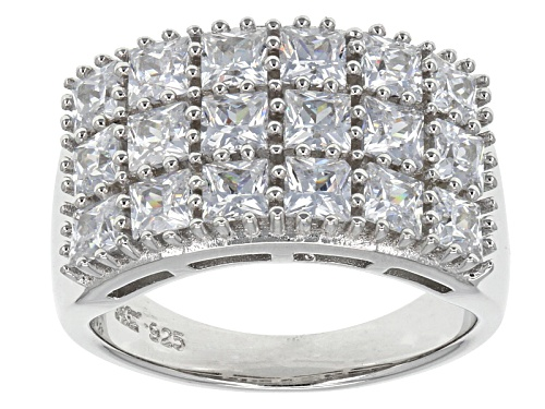 Photo of Pre-Owned Bella Luce ® 4.50ctw Square Rhodium Over Sterling Silver - Size 7