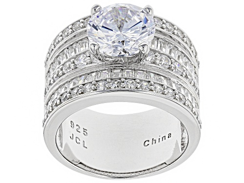 Photo of Pre-Owned Bella Luce® 6.93ctw Rhodium Over Sterling Silver Ring - Size 6