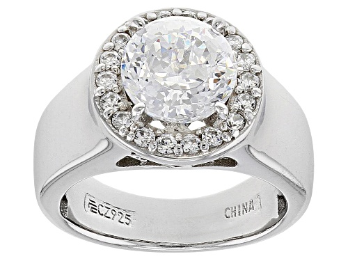 Photo of Pre-Owned Bella Luce® 2.47ctw Platinum Over Sterling Silver Ring - Size 5