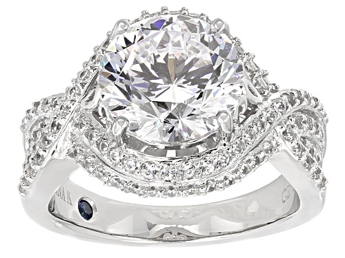 Photo of Pre-Owned Vanna K ™ For Bella Luce ® 7.75ctw Vanna K Cut Round Diamond Simulant Platineve ™ Ring - Size 6