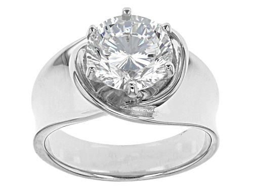 Photo of Pre-Owned Bella Luce® Dillenium Cut 4.59ct Diamond Simulant Rhodium Over Sterling Silver Ring (2.75c - Size 5