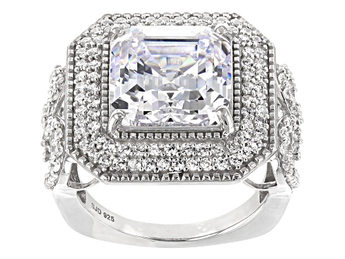 Photo of Pre-Owned Bella Luce ® 13.52CTW White Diamond Simulant Rhodium Over Sterling Silver Ring (8.72CTW DE - Size 7