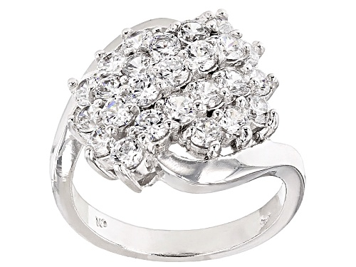 Photo of Pre-Owned Bella Luce ® 2.38ctw Rhodium Over Sterling Silver Ring (1.50ctw Dew) - Size 5