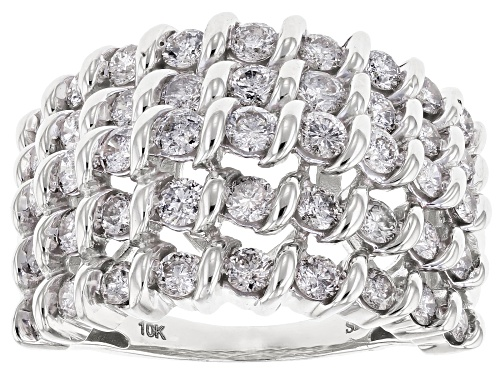 Photo of Pre-Owned 2.00ctw Round White Diamond Ring 10K White Gold Ring - Size 9
