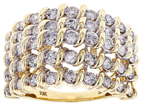 Photo of Pre-Owned 2.00ctw Round White Diamond Ring 10K Yellow Gold Ring - Size 6