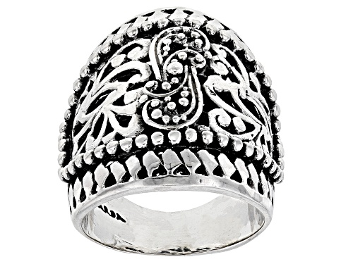 Photo of Pre-Owned Artisan Gem Collection Of Bali™ Sterling Silver Filigree Statement Ring - Size 6