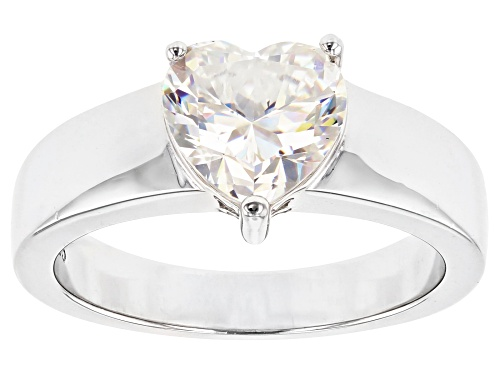Photo of Pre-Owned 2.34ct Heart Shape Fabulite Strontium Titanate Sterling Silver Solitaire Ring - Size 9