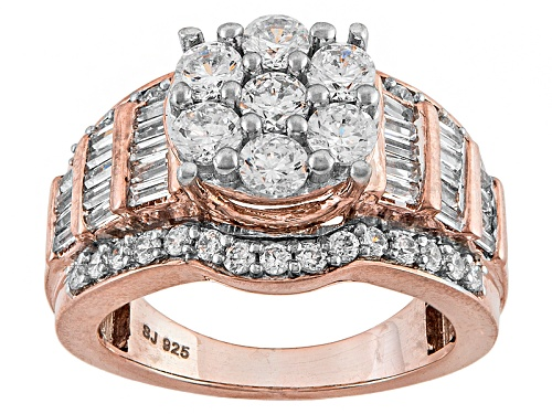 Photo of Pre-Owned Bella Luce ® 3.55ctw Diamond Simulant Round & Baguette Eterno ™ Rose Ring (2.48ctw Dew) - Size 5