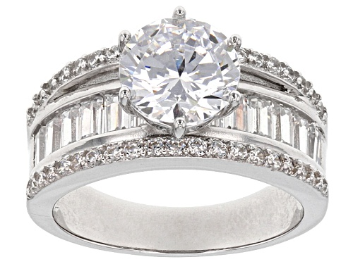 Photo of Pre-Owned Bella Luce ® 8.12ctw Rhodium Over Sterling Silver Ring - Size 6