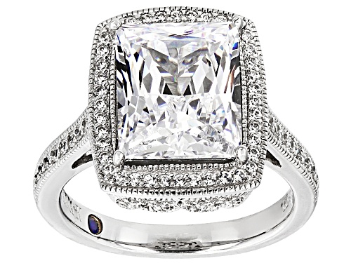 Photo of Pre-Owned Vanna K ™ For Bella Luce ® 9.26ctw White Diamond Simulant Platineve ™ Ring (5.69ctw Dew) - Size 10