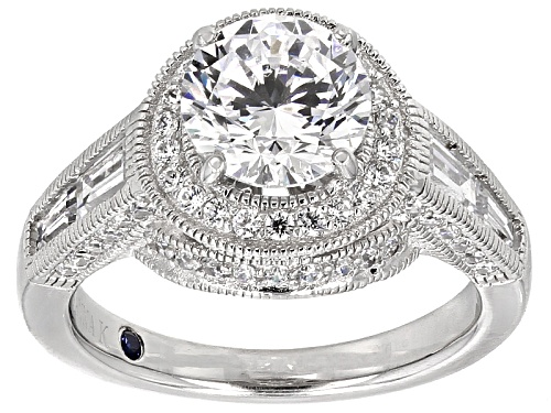 Photo of Pre-Owned Vanna K ™ For Bella Luce ® 5.40ctw Platineve ™ Ring (3.76ctw Dew) - Size 5