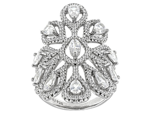 Photo of Pre-Owned Bella Luce ® 3.20ctw Rhodium Over Sterling Silver Ring - Size 8