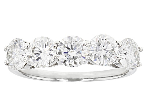 Photo of Pre-Owned Moissanite Fire® 3.00ctw Diamond Equivalent Weight Round Platineve™ Ring - Size 6