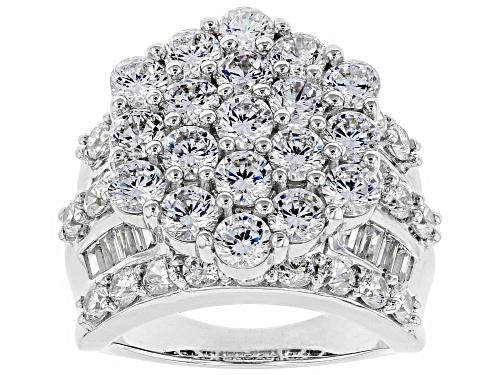 Photo of Pre-Owned Bella Luce ® 10.03CTW White Diamond Simulant Rhodium Over Sterling Silver Ring (5.55CTW DE - Size 5