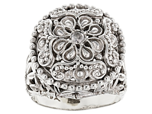 Photo of Pre-Owned Artisan Gem Collection Of Bali™ .06ct Round White Diamond Sterling Silver Solitaire Ring - Size 5