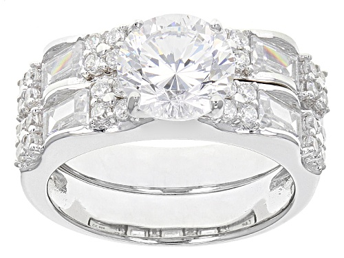 Photo of Pre-Owned Bella Luce ® 6.11ctw Dillenium White Diamond Simulant Rhodium Over Sterling Silver Ring Wi - Size 12