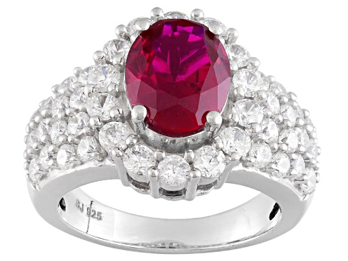 Photo of Pre-Owned Bella Luce ® 6.62ctw Lab Created Ruby & White Diamond Simulant Eterno ™ Rose Ring - Size 11