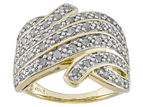 Photo of Pre-Owned Engild™ 1.00ctw Round White Diamond 14k Yellow Gold Over Sterling Silver Band Ring - Size 6