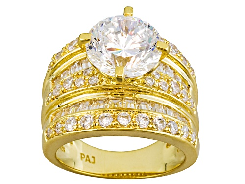 Photo of Pre-Owned Bella Luce ® Eterno ™ Dillenium Cut 9.39ctw 18k Yellow Gold Over Sterling Silver Ring - Size 6