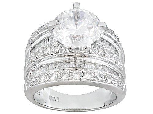 Photo of Pre-Owned Bella Luce ® Dillenium Cut 9.39ctw Round And Baguette Platineve Ring - Size 6