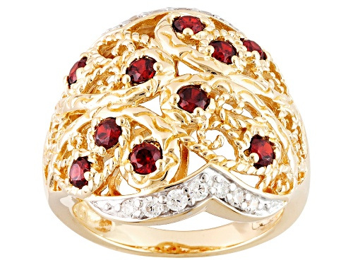 Pre-Owned Bella Luce ® Esotica ™ 1.40ctw Spessartite And White Diamond Simulant Eterno ™ Yellow Ring - Size 5