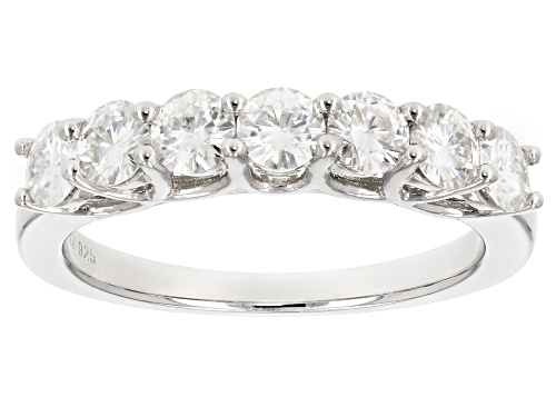Photo of Pre-Owned Moissanite Fire® 1.12ctw Diamond Equivalent Weight Round Platineve™ Ring - Size 11