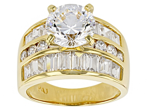 Photo of Pre-Owned Bella Luce ® Dillenium Cut 9.21ctw Eterno ™ Yellow Ring (5.55ctw Dew) - Size 10
