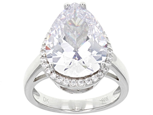Photo of Pre-Owned Bella Luce ® 12.75CTW White Diamond Simulant Rhodium Over Sterling Silver Ring (9.32CTW DE - Size 7