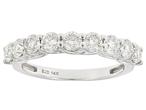 Photo of Pre-Owned Moissanite Fire® 1.17ctw Diamond Equivalent Weight Round 14k White Gold Ring - Size 11