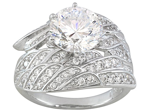 Photo of Pre-Owned Bella Luce ® Dillenium Cut 5.92ctw Rhodium Over Sterling Silver Angel Wing Ring - Size 9