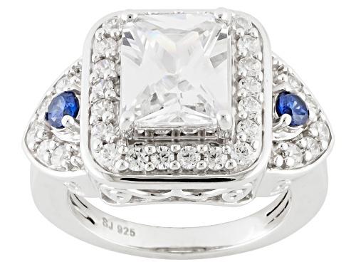 Photo of Pre-Owned Bella Luce ® 7.57ctw Diamond Simulant & Tanzanite Simulant Rhodium Over Sterling Silver Ri - Size 5