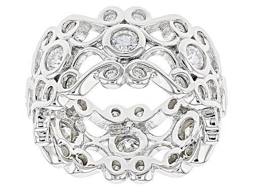 Photo of Pre-Owned Moissanite Fire® 1.68ctw Diamond Equivalent Weight Round Platineve™ Ring - Size 6
