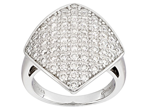 Photo of Pre-Owned Moissanite Fire® 1.83ctw Diamond Equivalent Weight Round Platineve™ Ring - Size 5