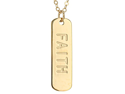 Photo of Pre-Owned 10k Yellow Gold Faith Script Vertical Bar 20 Inch Necklace - Size 20